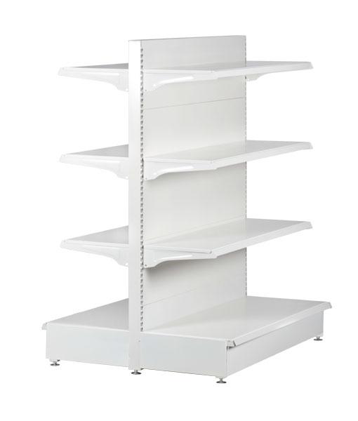 double-sided-medium-duty-flat-white-gondola-retail-display-shop-shelving-900mm-width-bay-run