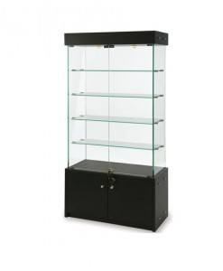 COSMO--GLASS-TALL-BEECH-DISPLAY-UNIT