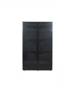 Gondolo-shelving-Black-Pegboard-Feature-End-front