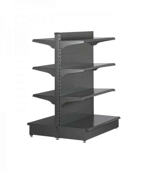 Hammertone-heavy-duty-double-sided--peg-board-gondola-retail-display-shelving-with-upper-shelves-3