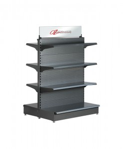 Hammertone-heavy-duty-double-sided--peg-board-gondola-retail-display-shelving-with-upper-shelves-6