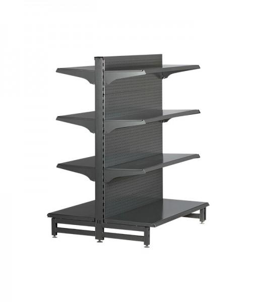 Hammertone-heavy-duty-double-sided--peg-board-gondola-retail-display-shelving-with-upper-shelves-8