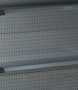 Hammertone-heavy-duty-double-sided--peg-board-gondola-retail-display-shelving-with-upper-shelves-9