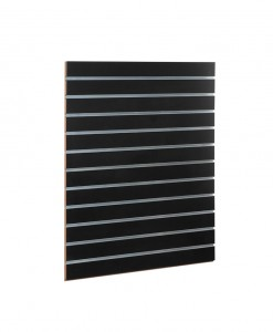 MDF black slatwall panels