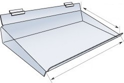 Slatwall-Accessories--acrylic slopped shelf-2